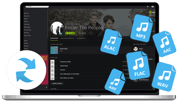Spotify music to MP3, AAC, FLAC, WAV