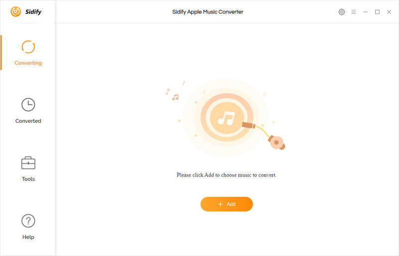 Main interface of Sidify Apple Music Converter