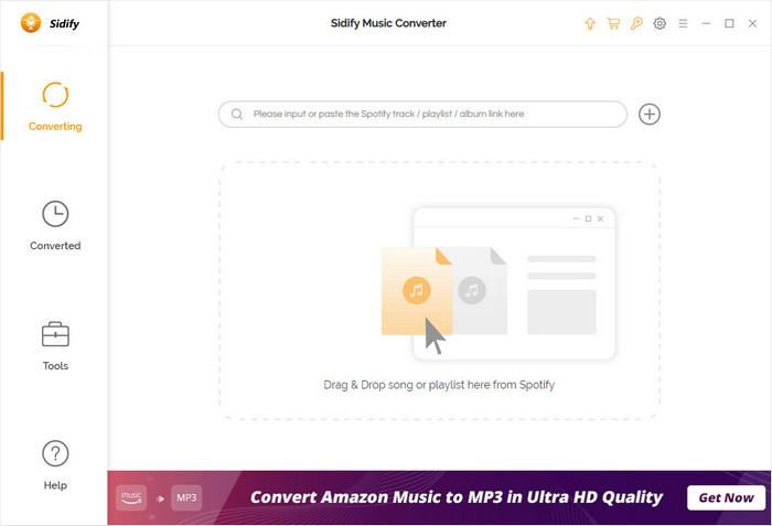 Main interface of Sidify Music Converter Free