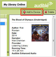 Add Audible audiobooks to MP3 player