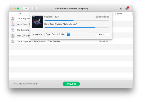 How to Extract MP3 Files from Spotify Songs or Playlist | Sidify