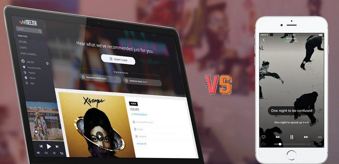 Deezer and Spotify comparison