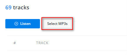 Upload MP3 files to Deezer