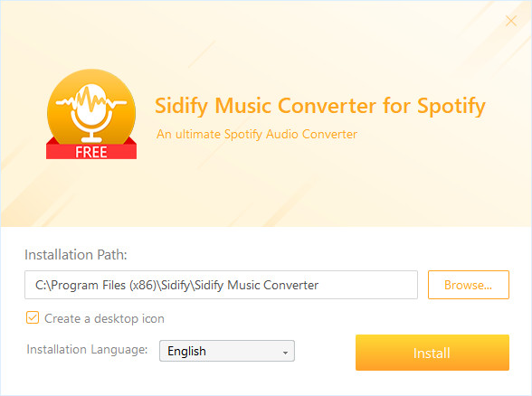 Install Sidify Music Converter Free